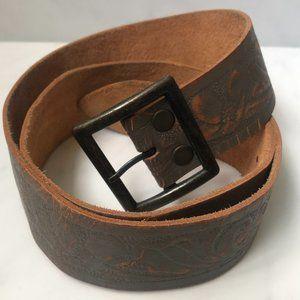 Brave Gray Distressed Leather Belt Never Worn